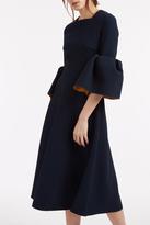 Roksanda Yasmin Bell-Sleeve Dress