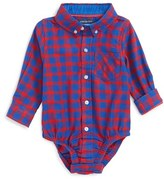 Andy & Evan Infant Boy's Check Flannel Bodysuit