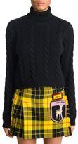 Miu Miu Cable-Knit Cashmere Turtleneck Sweater