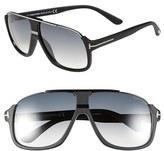 Tom Ford Women's 'Eliot' 60Mm Sunglasses - Shiny Black/ Havana Temples