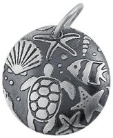 Marbella Genuine TM) .925 Sterling Silver Round Sea Life Disc Charm Pendant (17 mm in Diameter). 100% Satisfaction Guaranteed.