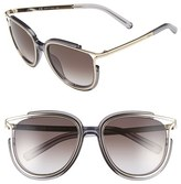 Chloé Women's 'Jayme' 54Mm Retro Sunglasses - Crystal