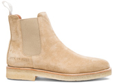 Common Projects Suede Chelsea Boots in Neutrals.