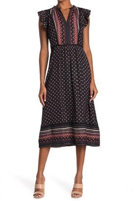 Adelyn Rae Border Stripe Midi Dress