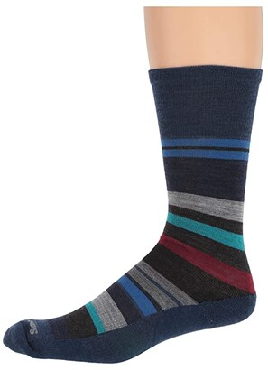 Smartwool Saturnsphere (Black/Deep Navy) Men's Crew Cut Socks Shoes