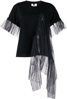 Alchemy draped tulle panelled T-shirt