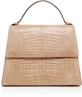 Hunting Season Crocodile Leather Top Handle Bag