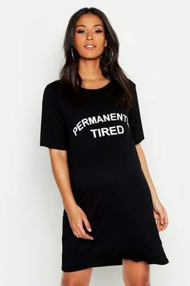 boohoo Maternity Permanently Tired Nightie