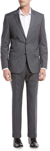 BOSS Basic Slim-Fit Two-Piece Suit, Gray