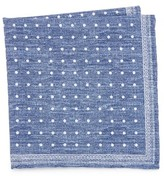 Thomas Mason Paisley Print Pocket Square