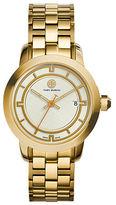 Tory Burch Tory Goldtone Stainless Steel Bracelet Watch/Ivory