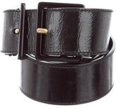 Saint Laurent Patent Leather Waist Belt