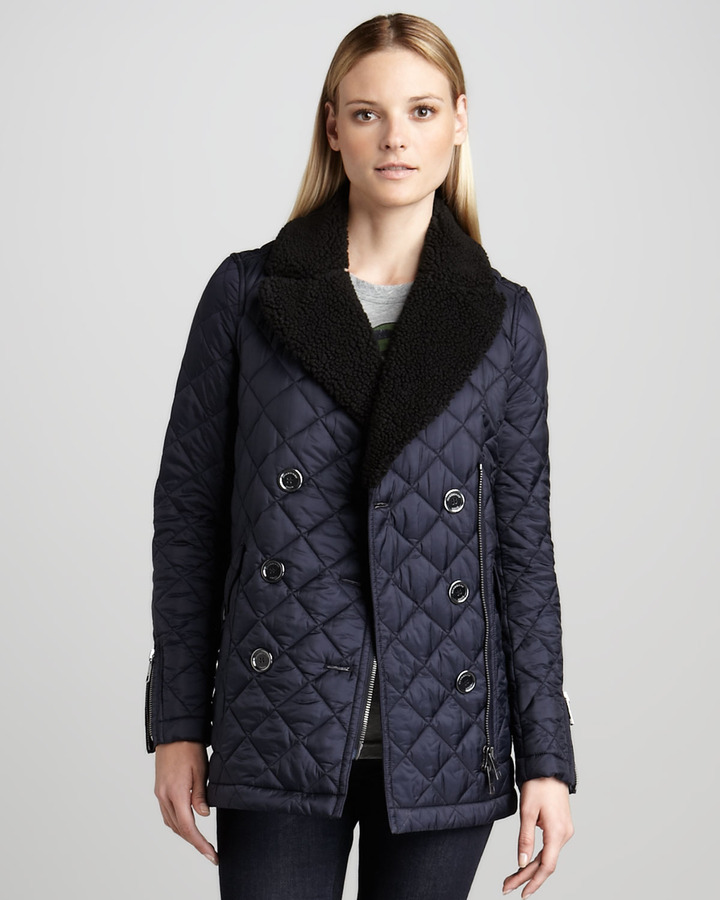 Burberry Quilted Double-Breasted Jacket
