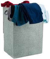 Minky Canvas Laundry Hamper Grey Check