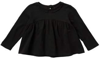 Joe Fresh Mock Neck Swing Long Sleeve T-Shirt (Baby Girls)