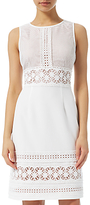 Adrianna Papell Stretch Crepe Lace Dress, Ivory