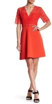 Alexia Admor Deep V Fit & Flare Lace Dress