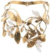 Goossens structured leaf construct necklace