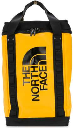 The North Face logo print top handle backpack