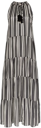 Figue stripe-print maxi dress