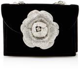 Oscar de la Renta Velvet Rose Bag with Chain Strap