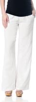 A Pea in the Pod Splendid Pull On Style Linen Wide Leg Maternity Pants
