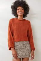 Neely Crop Pullover Rust M/L