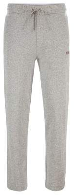 BOSS Regular-fit jogging trousers with contrast panel