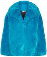 Diane von Furstenberg Oversized Faux Fur Coat - Turquoise