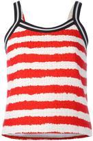 MSGM striped top - women - Cotton/Linen/Flax/Polyamide/Viscose - 38