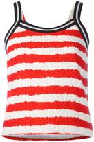 MSGM striped top - women - Cotton/Linen/Flax/Polyamide/Viscose - 42