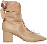 Valentino Ballerina lace-up ankle boots