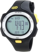 Soleus Men's SR008020 P.R. Digital Dial with Black Polyurethane Strap Watch