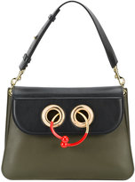J.W.Anderson Medium bi-colour Pierce bag with gold and red hoop