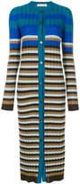 Marni long striped ribbed cardigan