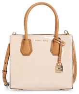 MICHAEL Michael Kors Medium Mercer Leather Messenger Tote - Pink
