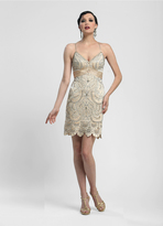 Sue Wong Lace Embroidered Cocktail Dress N4111