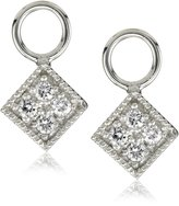 "KC Designs Charmed Life"" Diamond 14k Gold Square Ear Charm"