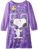 "Peanuts Little Girls' Toddler ""Friends Forever"" Nightgown"
