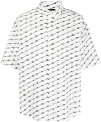 Balenciaga Logo-Print Oversize Shirt