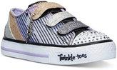 Skechers Little Girls' Twinkle Toes: Shuffles - Glitter Geometric Light-Up Casual Sneakers from Finish Line