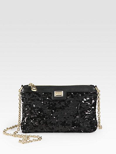 Dolce & Gabbana Mini Pailletttes Pouch Shoulder Bag