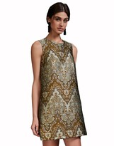Cynthia Rowley Gilded Jacquard Shift Dress