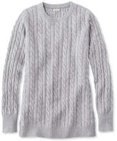 L.L. Bean Classic Cashmere Sweater, Cable Crewneck
