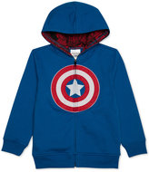 Marvel Little Boys' Captain America Zip-Up Hoodie