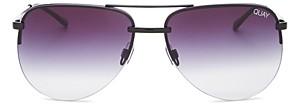 Quay Women's The Playa Mirrored Aviator Sunglasses, 54mm