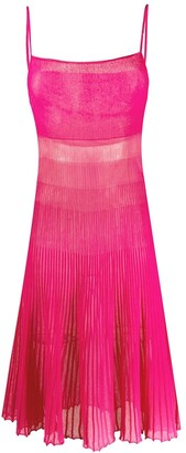 Jacquemus Helado pleated knitted dress