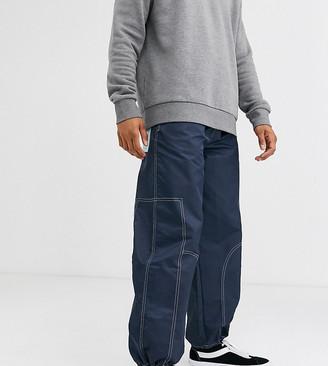 Noak nylon cargo trouser with pullers-Navy