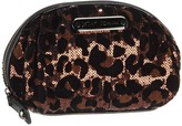 Betsey Johnson Cheetah-licious Small Cosmetic (Bronze) - Bags and Luggage