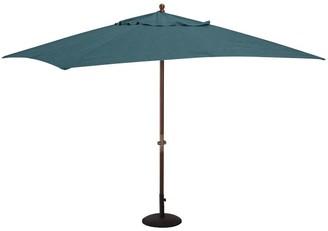 Pottery Barn Rectangular 10' Premium Sunbrella Umbrella - Eucalyptus Tilt Pole, Honey